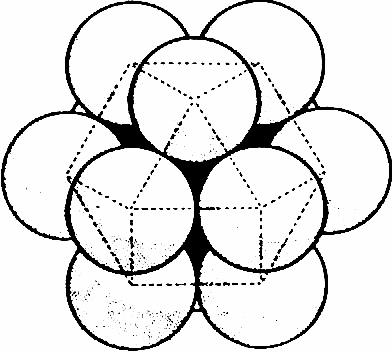 Closest packing of spheres: cuboctahedron