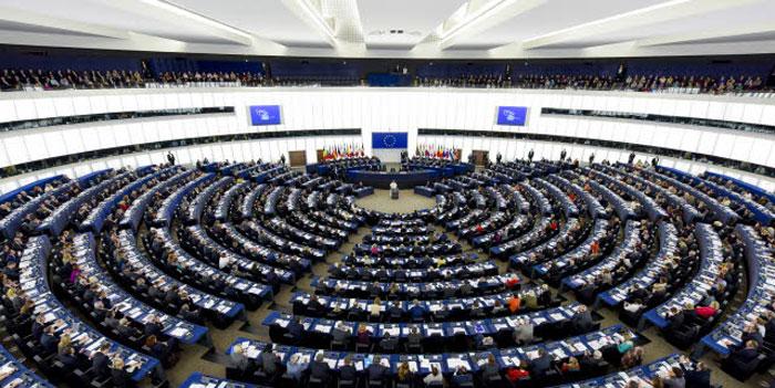 Pope addressing European Parliament